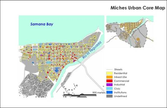 Miches Urban revitalizing strategy - Miches mapa urbana