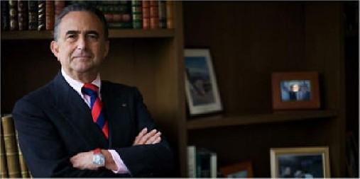 Gustavo Cisneros, empresario venezolano, habló ayer en el Palacio Nacional, luego de visitar al presidente Leonel Fernández.