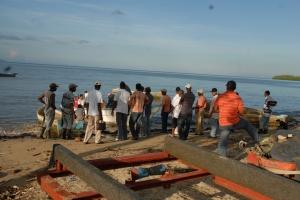 Embarcadero de los pescadores en Las Carnitas, entre Miches y Sabana de la Mar.
