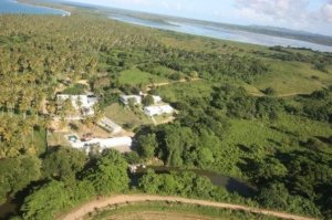 Rancho La Cueva - vista desde el helicoptero