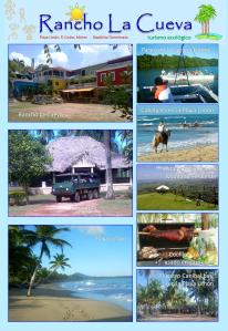 Programa de actividades del Rancho La Cueva en la Playa Limón.
